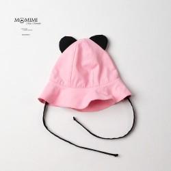 Letní klobouček s oušky růžový