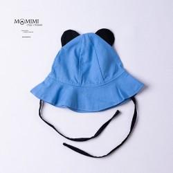 Letní klobouček s oušky modrý