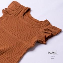 Šaty mušelínové hnědé