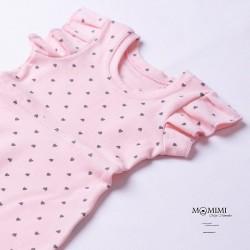 Šaty světle růžové se srdíčky