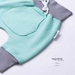 Tepláčky elastické mint