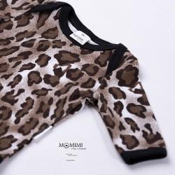 Body dlouhý rukáv leopardí