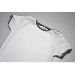 Body krátký rukáv bílé s šedou